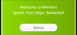 Demo version of the mobile app <i>Sports. First Steps. Basketball</i>.